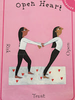 open heart pose of yoga pretzel card