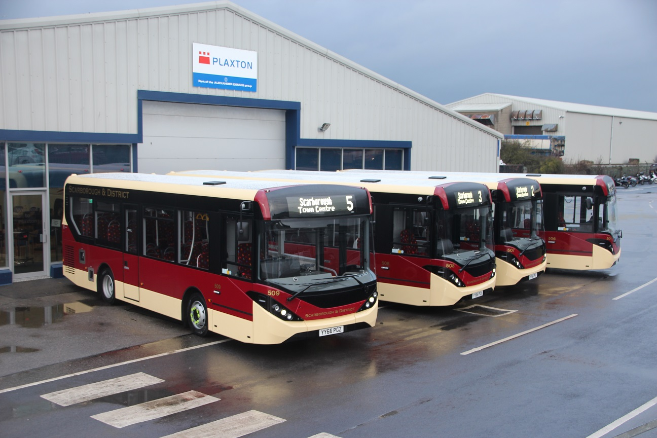 hight resolution of scarborough and district buses are running four new single deck buses representing about million out of a total investment of 1 6million in ten new buses