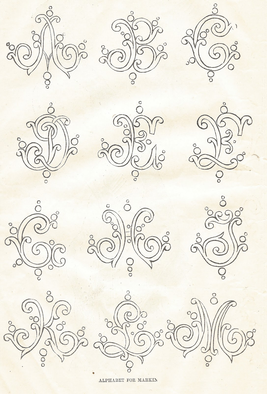 Antique Graphics Wednesday - Three 1800's Antique Alphabet Fonts