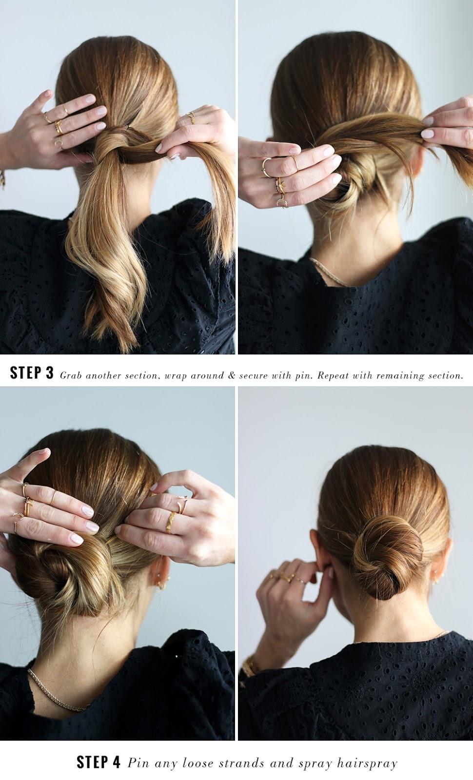 DIY File The Easiest Hair Bun Tutorial THE VAULT FILES - Hairstyle bun tutorials