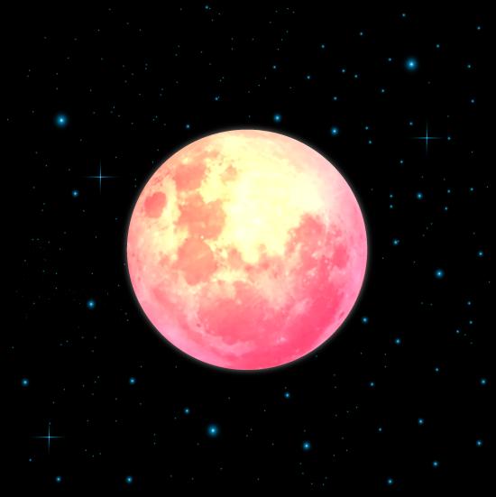 Luna de sangre luna de color rojizo