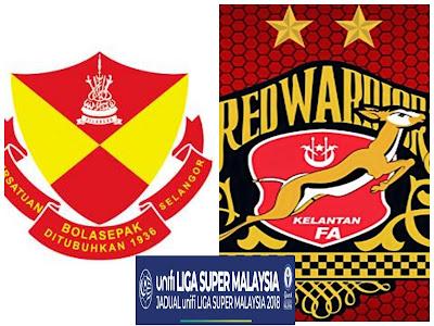 Live Streaming Selangor vs Kelantan Liga Super 1.6.2018