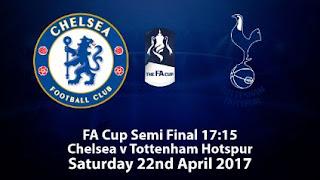 Prediksi Chelsea vs Tottenham Hotspur - Semifinal FA Cup 22 April 2017