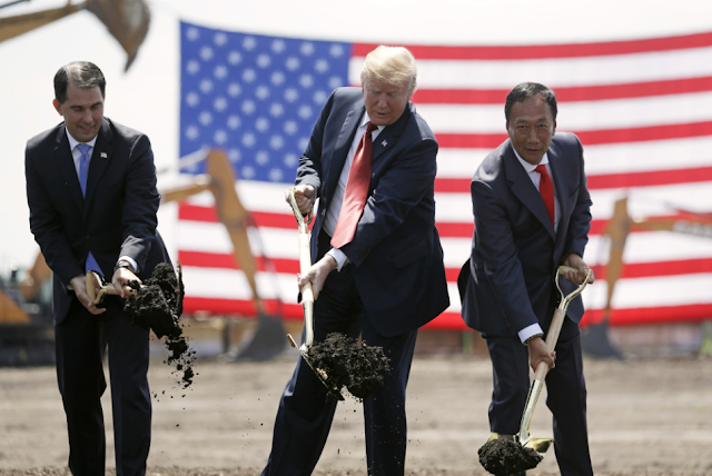 Foxconn may not build $10B Wisconsin plant Trump touted
