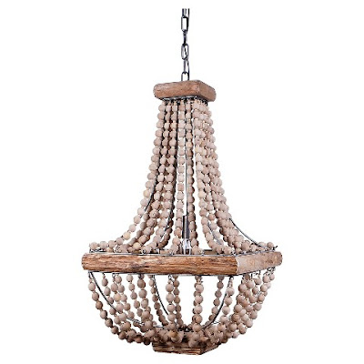 wood beaded chandelier Target