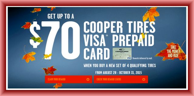 Cooper Tire Rebate And Coupons January 2019
