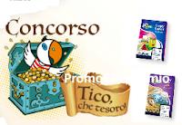 Logo Concorso ''Tico che Tesori'' vinci TV QLed, Iphone X, Camera GoPro