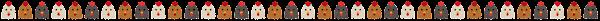 鶏のライン素材