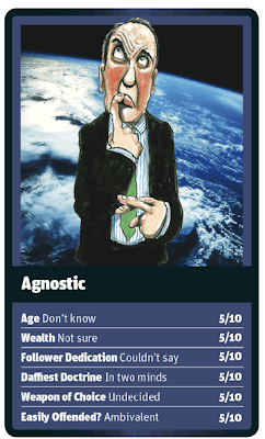 Funny World Religion Top Trumps Cards Agnostic Image