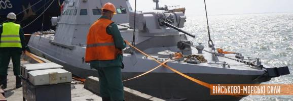 Два бронекатери ВМСУ спущено на воду на Азові