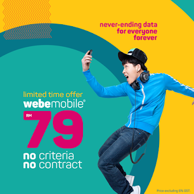 Malaysia webe mobile unlimited data plan discount promo