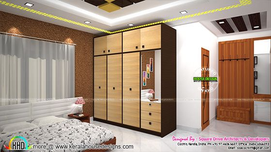 Master bedroom design wardrobe