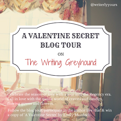 A Valentine Secret by Emily Murdoch book blog tour graphic