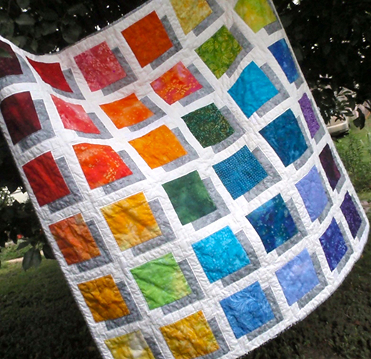 Shadow Box Quilt Free Tutorial designed by Jean MaDan of Madan Quilting