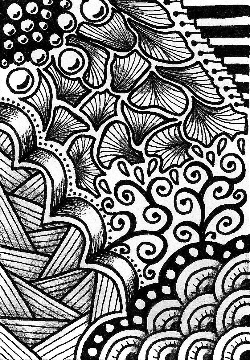Creative crafting how to zen doodle for Creative simple
