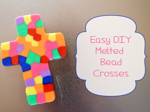 Easy DIY Melted Bead Crosses #FCBlogger
