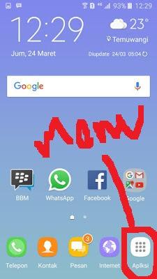 Cara Memunculkan Menu Pada Samsung Galaxy J3 Pro