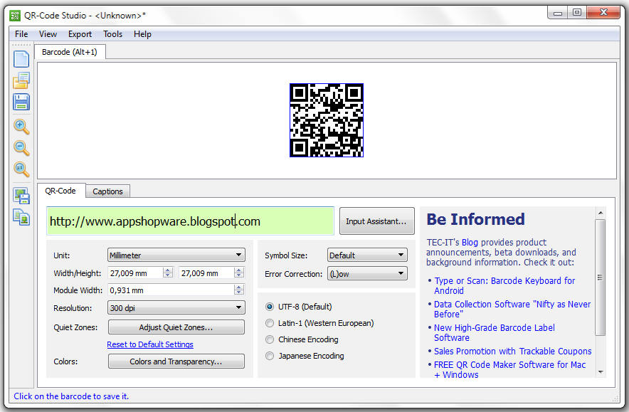 Free Download QR-Code Studio for Windows and Mac OS X - AppShopWare