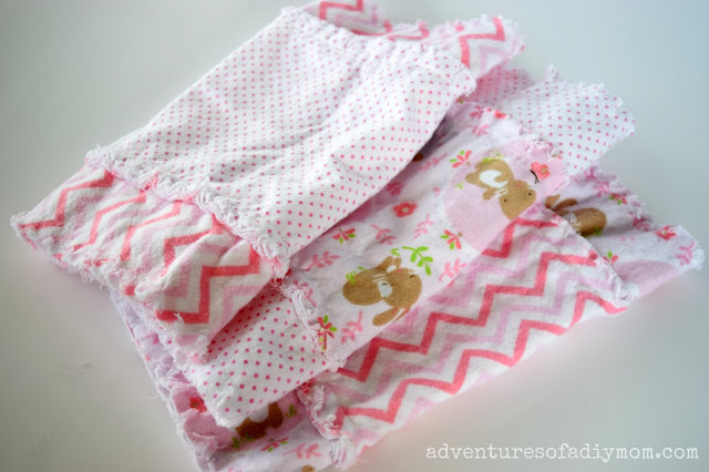 rag burp cloths