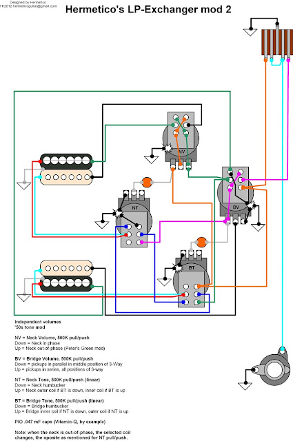 Hermetico Guitar  Wiring Diagram  Hermetico U0026 39 S Lp Exchanger Mod 2