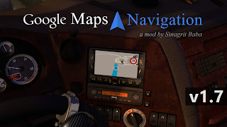 ets 2 google maps navigation v1.7