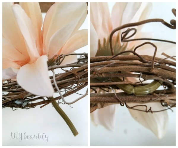 add flowers without glue or wire