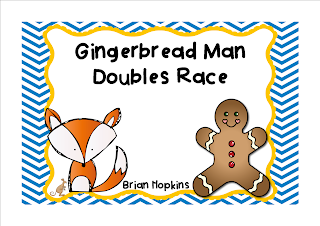 Gingerbread Doubles Race FREEBIE