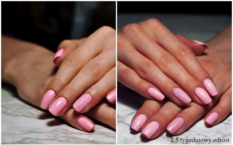 manicure hybrydowy, manicure hybrydowy po 2,5 tygodnia, pastele vivid passion, allepaznokcie,
