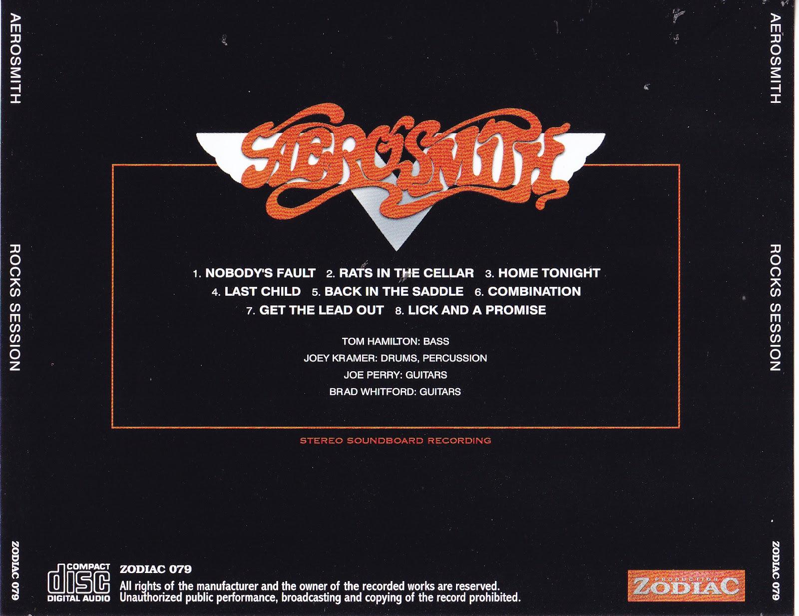 Aerosmith Bootlegs Cover Arts Rocks Session 1976