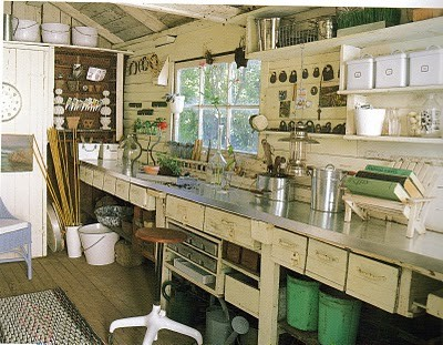 Shabby Chic She Shed Craft Rooms
