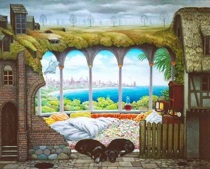 A Ideia de Fim de Semana - Jacek Yerka e seu surrealismo fantástico ~ Polonês