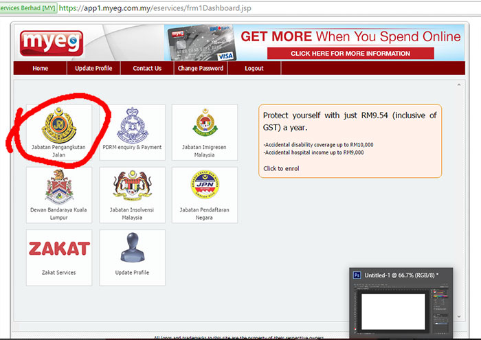 renew roadtax di JPJ