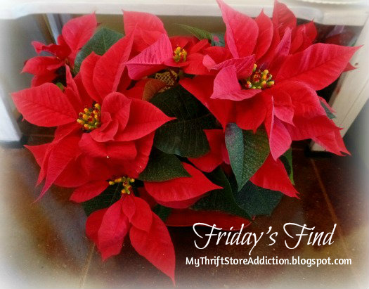 Friday's Find: Clearance Poinsettias to Deck My Halls... mythriftstoreaddiction.blogspot.com