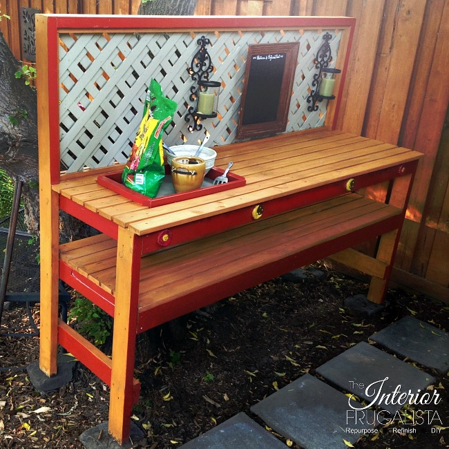 DIY Potting Bench Bottom Shelf