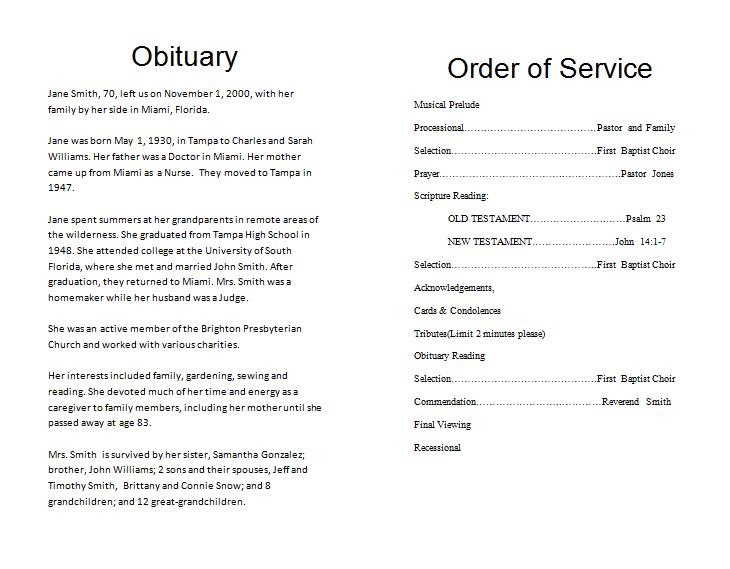 The FuneralMemorial Program Blog How To Write a Funeral Program – Catholic Funeral Program