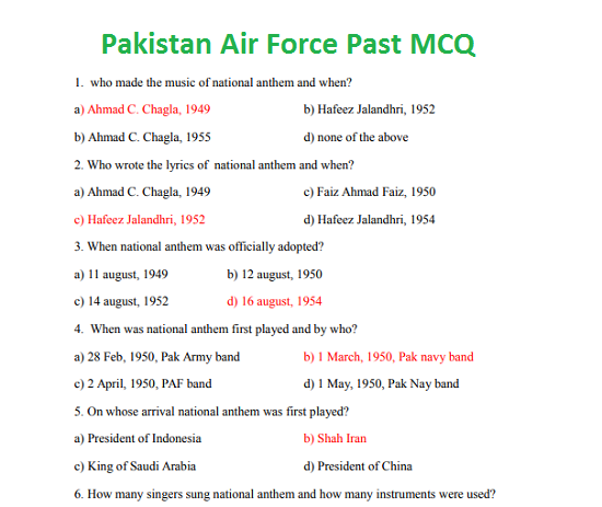 pakistan-air-force-online-test-preparation-mcq-in-pdf