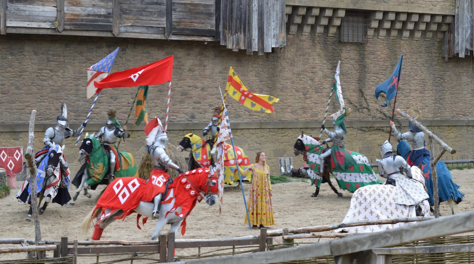 Puy du Fou Theme Park, France - Medieval Knights show with horses