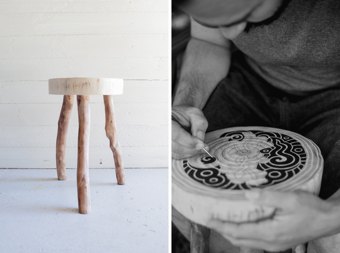 collaborate stool making