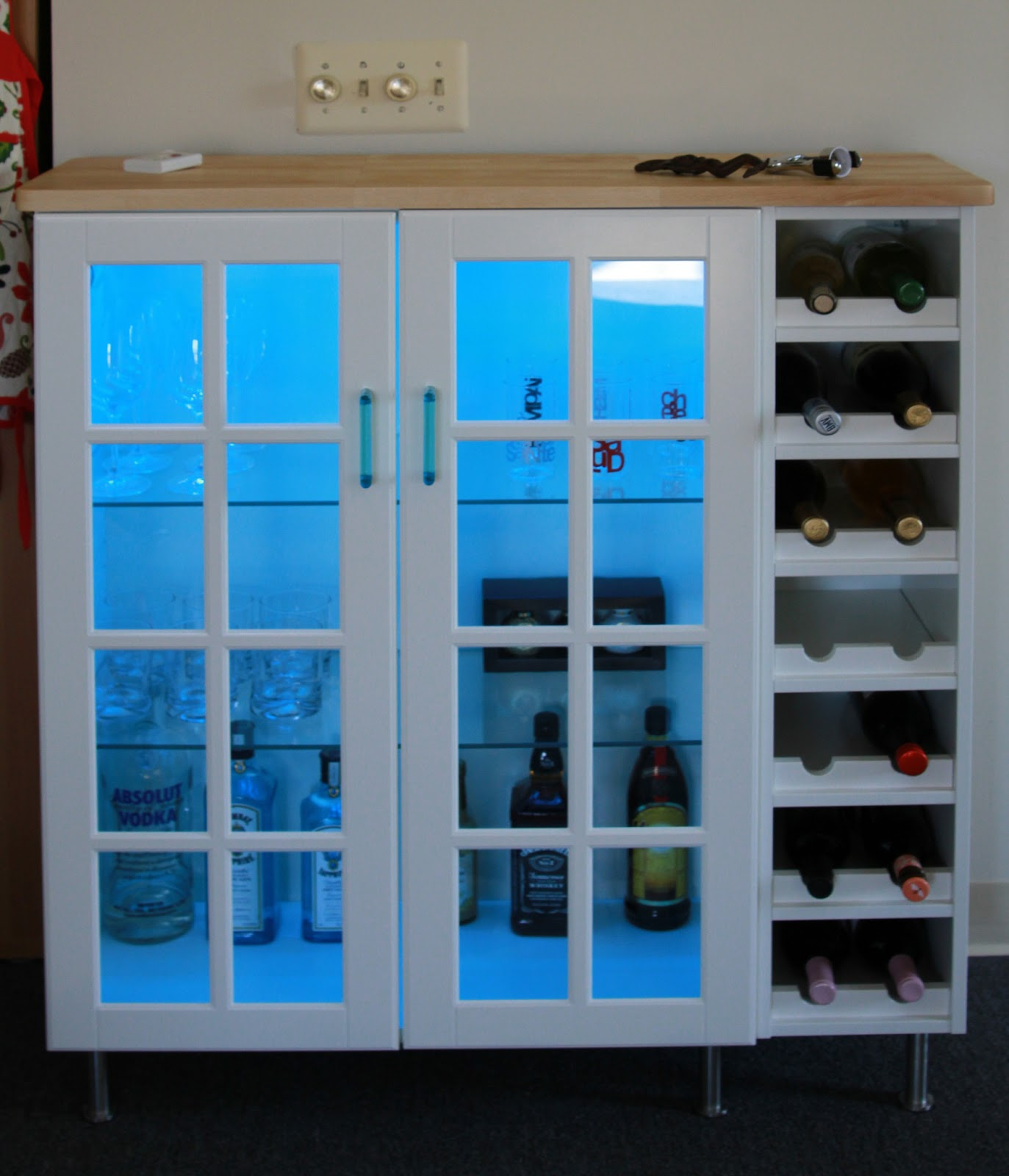 Bar Cabinet Ikea Hack