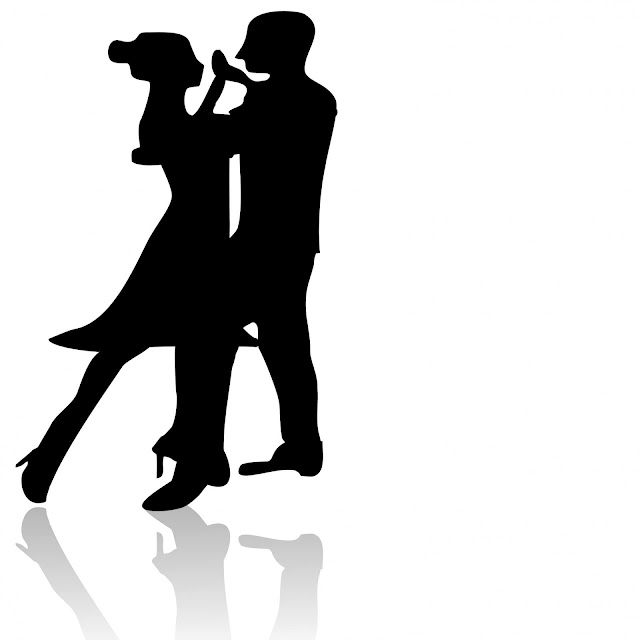 Metamora Herald dancing figures black and white clipart