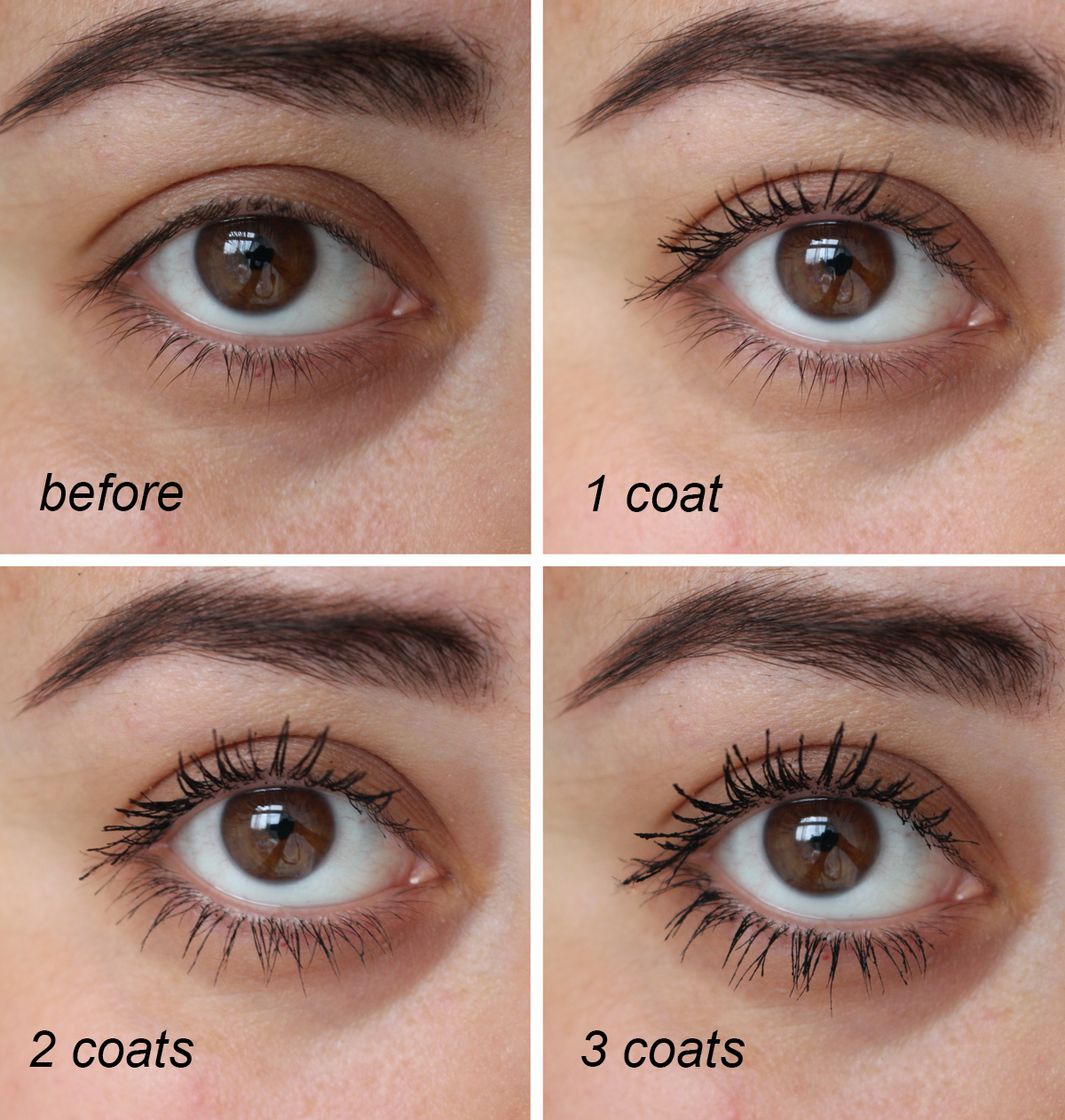 Lancôme Monsieur Big Mascara before and after photo
