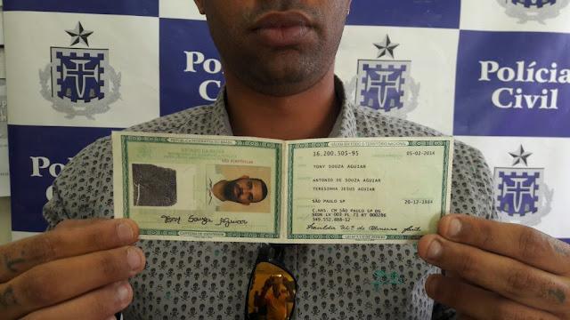 Sétima Delegacia prende elemento que  tentava obter empréstimo consignado no BB com documento falso