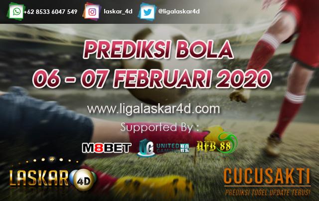 PREDIKSI BOLA JITU TANGGAL 06 – 07 Februari 2020