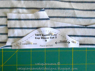 valspierssews doll clothes cutting a cap sleeve