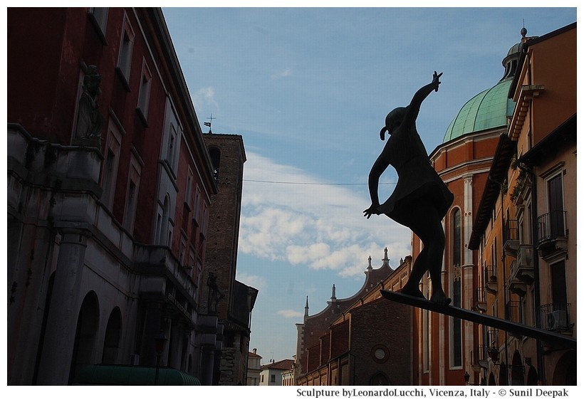 Sculptures of gymnastics and yoga - Vicenza, Italy - Images by Sunil Deepak