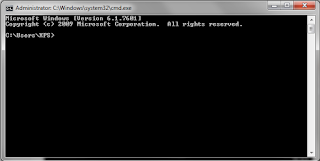 muncul Jendela Command Prompt (CMD)