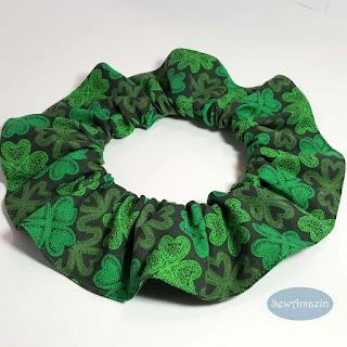 Lucky Irish Shamrocks Pet Scrunchie Neck Ruffle St Patricks Day