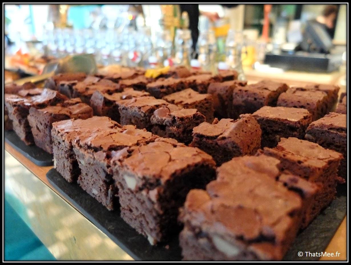 Brownies Home-made Brunch Le Wood Paris Woodbar Marais place Thorigny, brunch a volonte Paris Marais Le Wood