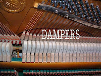 dampers in a real piano