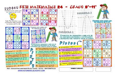 Sudoku, Juego de números, Juegos para pensar, Juegos para estudiantes, Juegos de lógica, Desafíos matemáticos, Problemas matemáticos, Retos matemáticos,